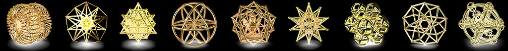 3d printed gold plated sacred geometries